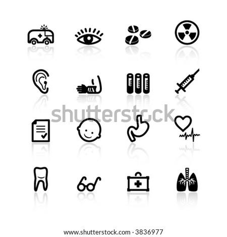 black medicine icons