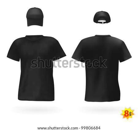 Black men's t-shirts and baseball cap.