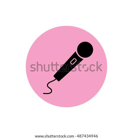 black microphone icon vector
