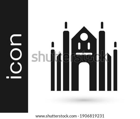 black milan cathedral or duomo