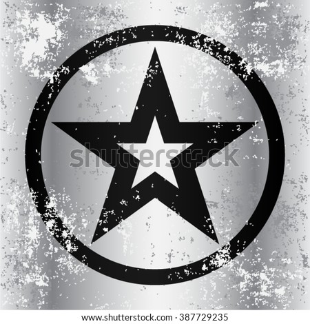 black military star on  grunge