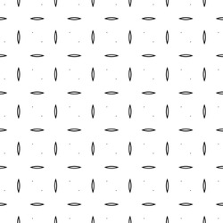Black mini hollow figures tessellation on white background. Image with ovals and triangular blocks. Ethnic tiles motif. Seamless surface pattern design with circular ornament. Mosaic pavement. Vector.