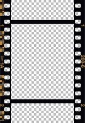 Black 35 mm Movie Film Strip