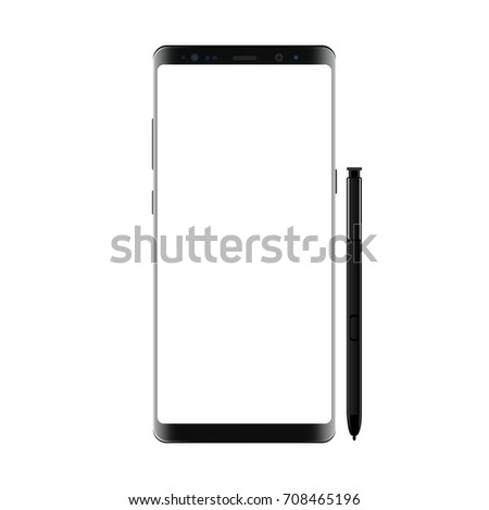 black modern smartphone with