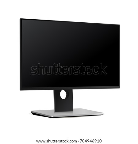 black monitor screen dell