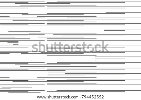 black monochrome different size horizontal lines. stripes wallpaper concept. vector background for web and print.