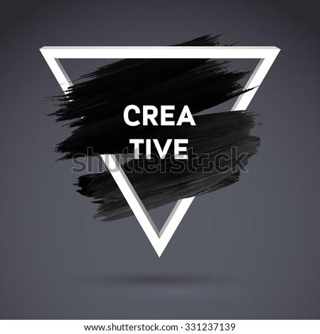 black motivation square acrylic