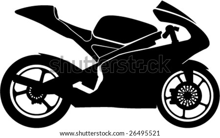 Motorcycle Racing Silhouette Black motorcycle racing style