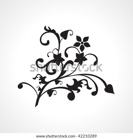 black natural pattern tattoo,