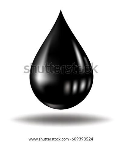 black oil dropping on white