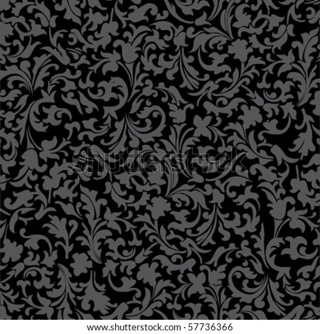 black ornament vector