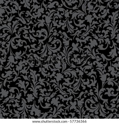 black ornament vector - stock vector