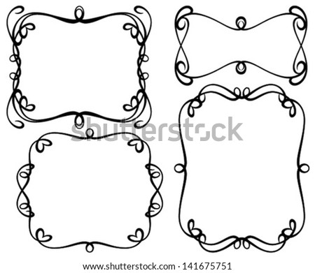 black ornamental frames