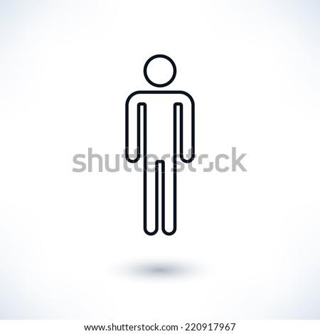 Bathroom Sign Person bathroom person outline