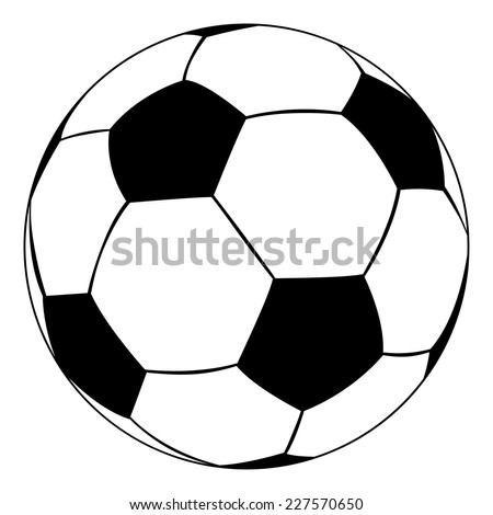 black outline vector soccer