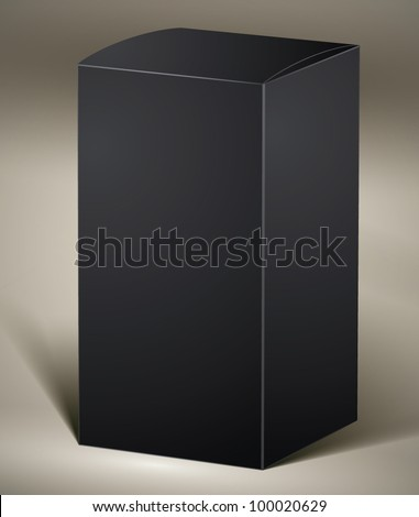Black pack for design or product visualizing, vertical, vector.