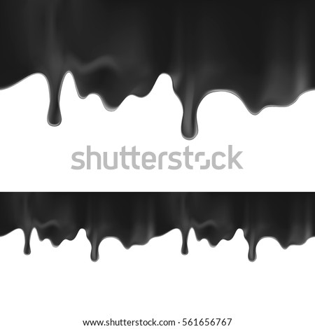 black paint dripping isolated
