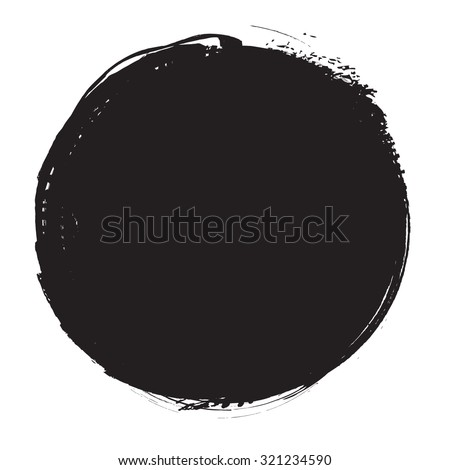 Black Paint Vector Circle .