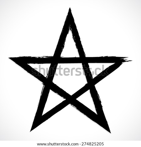 black painted pentagram