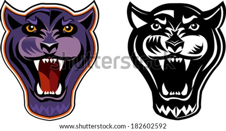 Black Panther Face Stock Vector Illustration 182602592 ...