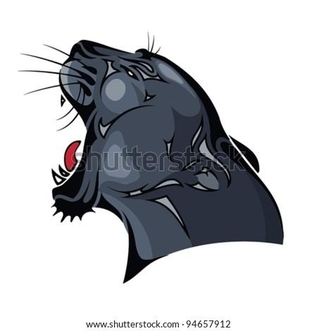 Panther Head Logos Black Panther Head Vector
