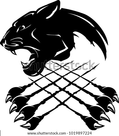 Stock Photo Black Panther Insignia