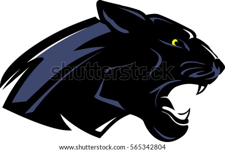 black panther mascot side view