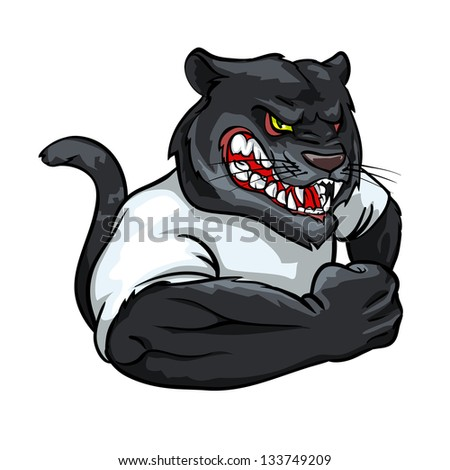team logo design isolated Panther Logo Designs