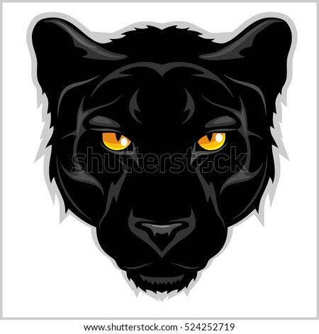 Black Panther - on white background.