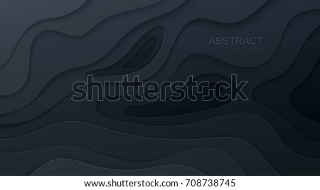 black paper cut background