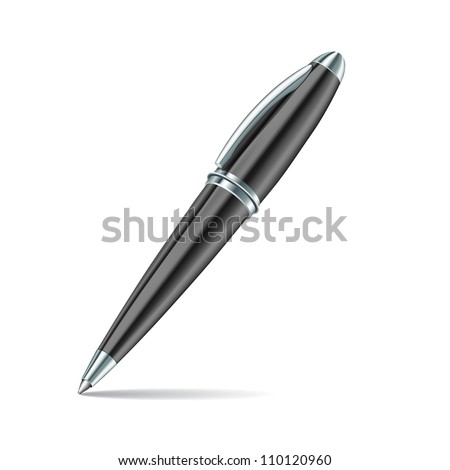black pen isolated on the white