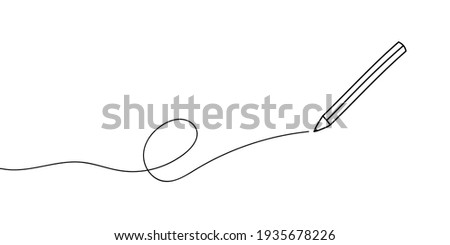Black pencil line pattern Happy words pencil day Teacher's day fun funny write draw brushes Edit pen handle icon sign sign symbol. Vector illustration