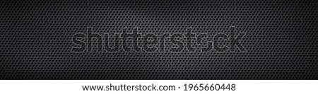 Black perforated metal plate. Metal grill. Black metal texture steel background. Perforated sheet metal.Abstract dark gray circle mesh pattern background texture.Black metallic background.Vector EPS10