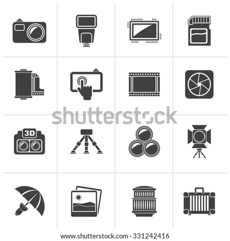 black photography equipment