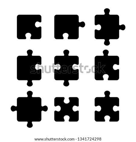 black piece jigsaw