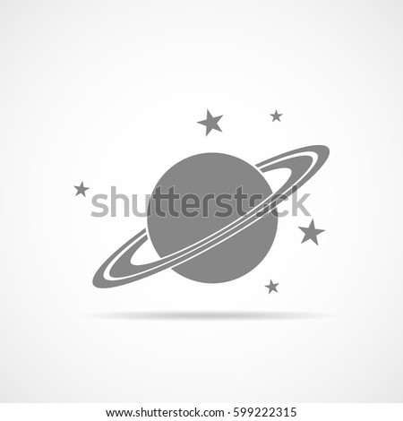 black planet isolated on light