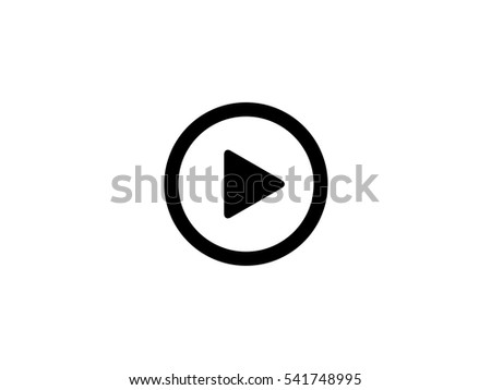 Black play button icon vector illustration on white background #541748995