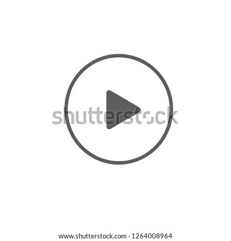 black play button vector