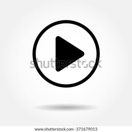 black play button vector icon