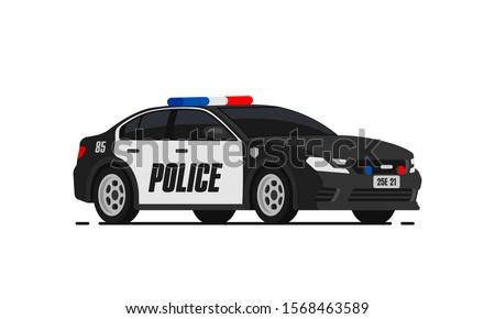 black police car icon city