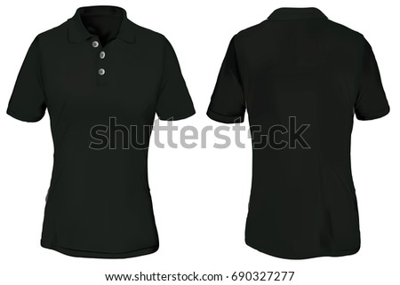 black polo shirt template for