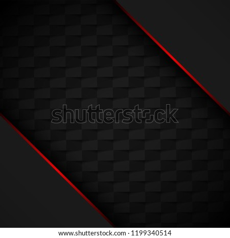 stock-vector-black-poster-template-with-red-frame-and-geometric-textured-pattern-vector-background