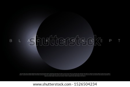 Black premium abstract background with luxury gradient geometric elements. Rich background for exclusive design. - Vector Foto d'archivio ©