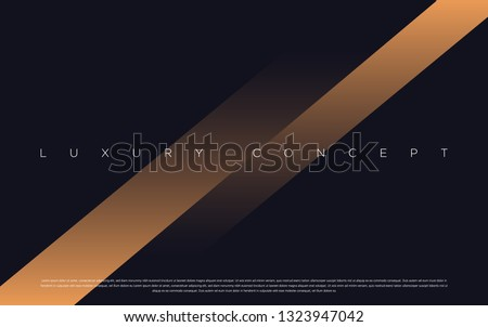 Black premium background with luxury dark gold bullion and golden line. Rich background for poster premium design.