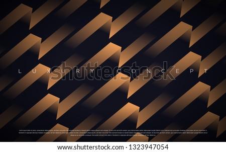 Black premium background with luxury dark gold bullion pattern and golden lines. Rich background for poster premium design.