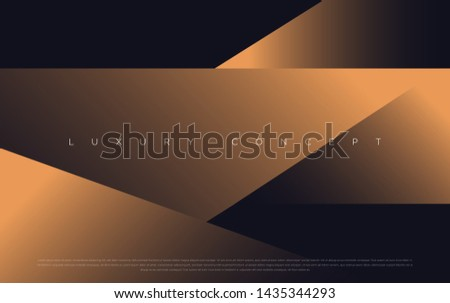 Black premium background with luxury dark gold bullion pattern and golden lines. Rich background for premium design. - Vector