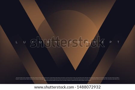 Black premium background with luxury dark V letters and golden effects. Rich vector background for your exclusive design.