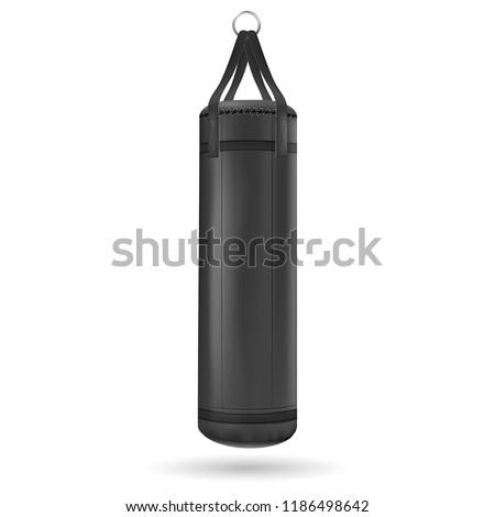 Black punching bag. Vector illustration Stock photo ©