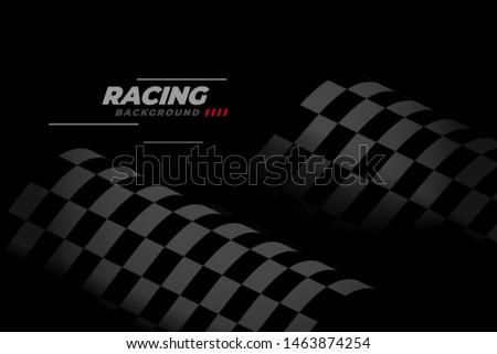 black racing background with checkered flag