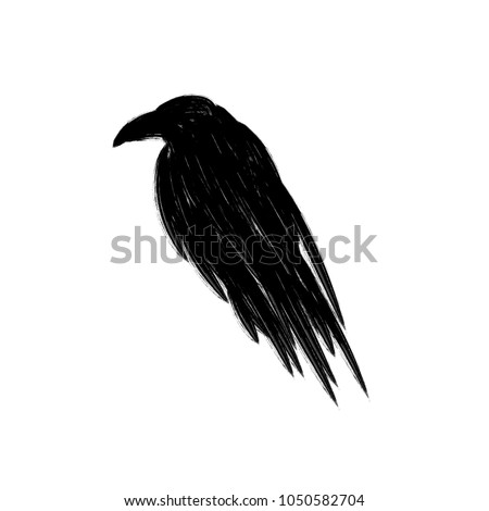 black raven crow silhouette